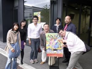 左から3番目がチャン・ヒョンユン監督