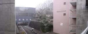 キャンパス雪景色<3>