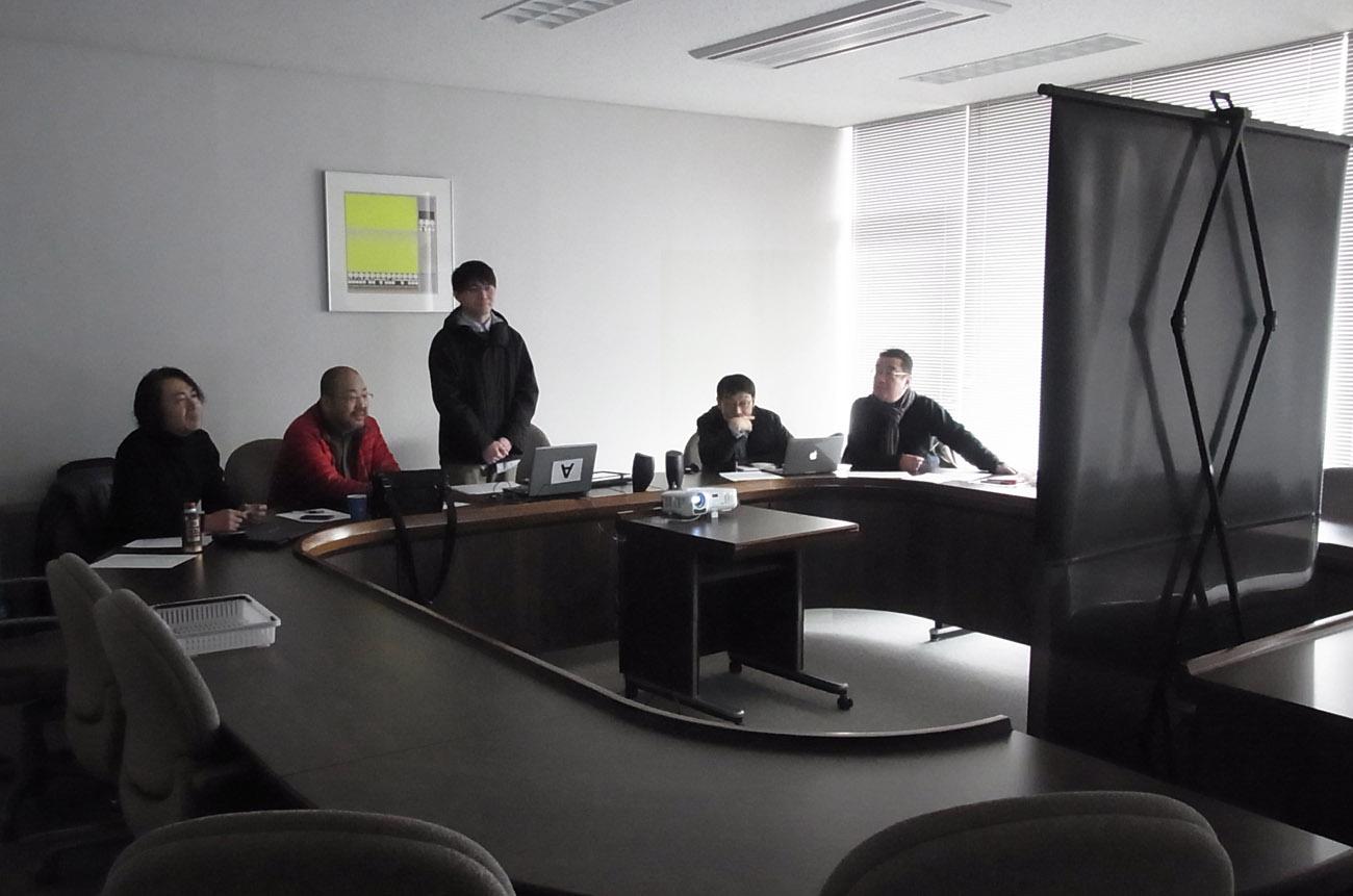 緊張の卒制面談講評会