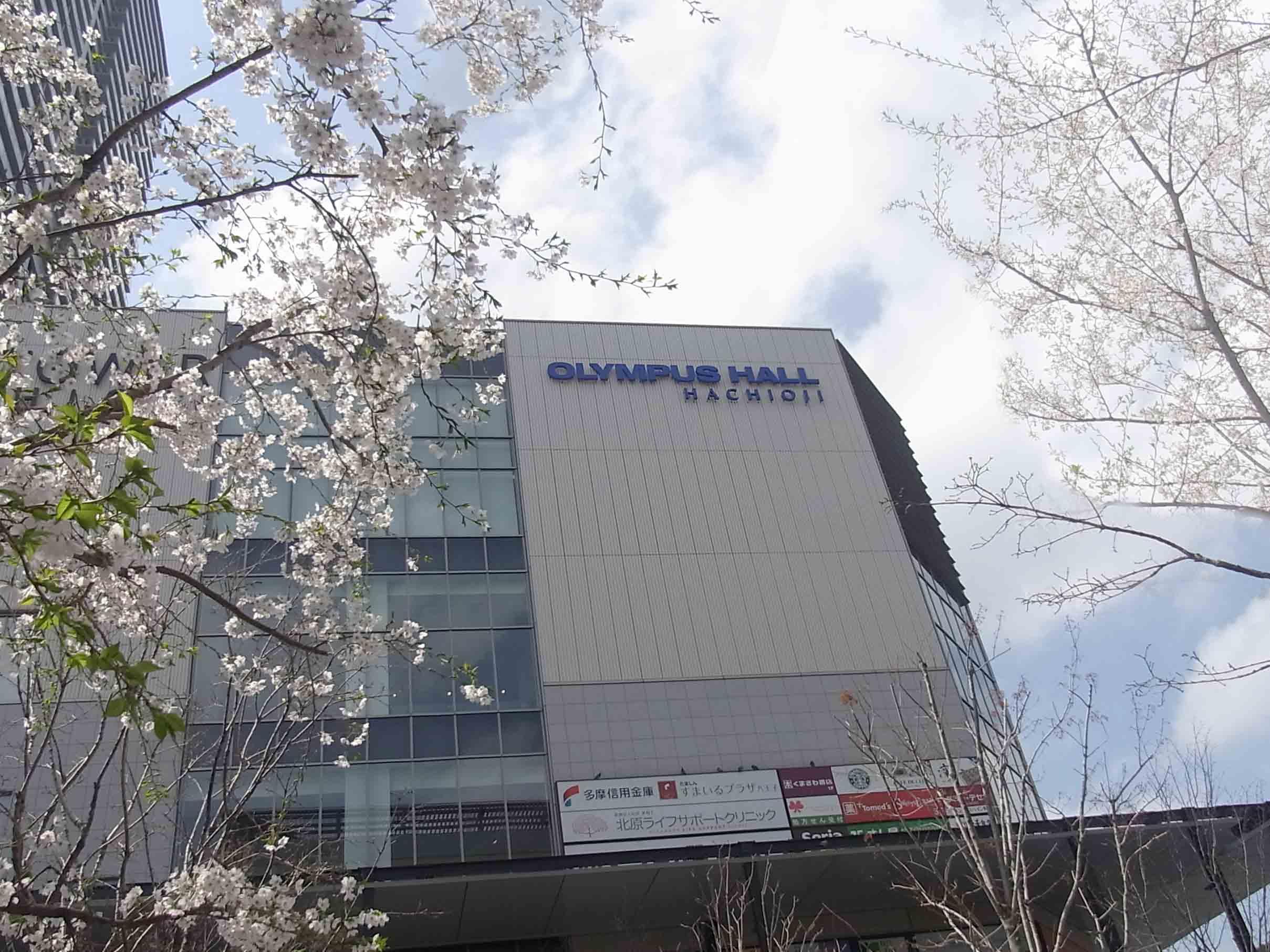 桜舞い散るオリンパスホール