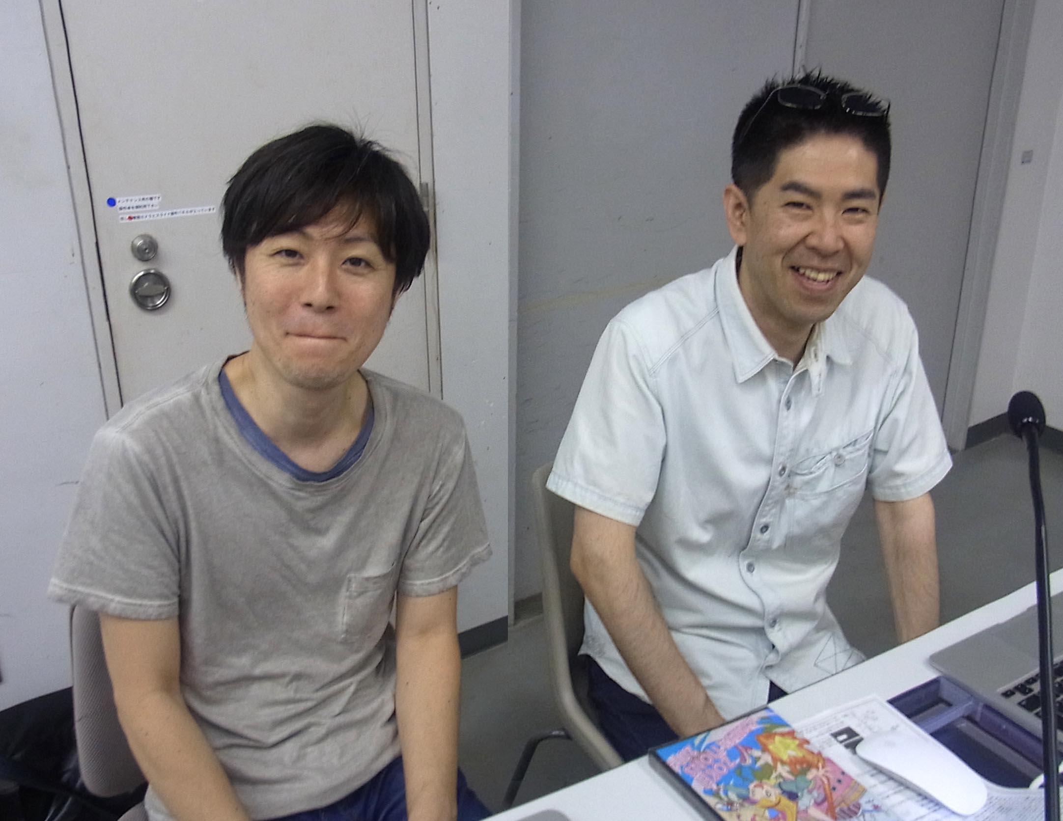 三好紀彦さんと泉津井陽一さん